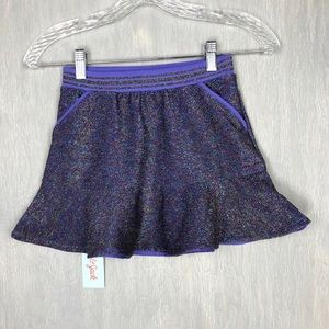 NWT Cat & Jack glitter skirt S 6 purple